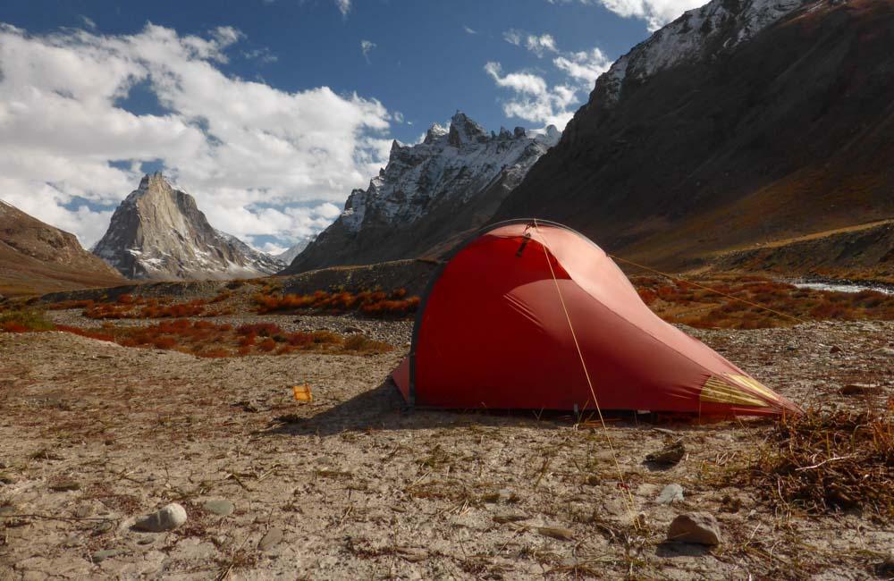 Mały namiot górski