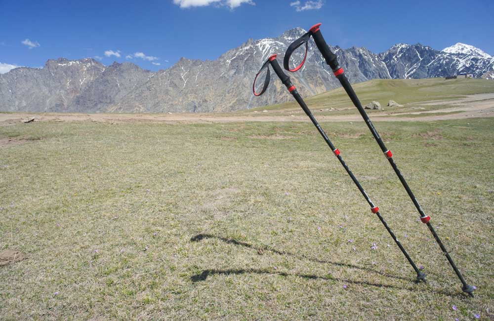 Kije Black Diamond Trail Pro Shock - test w drodze na Kazbek