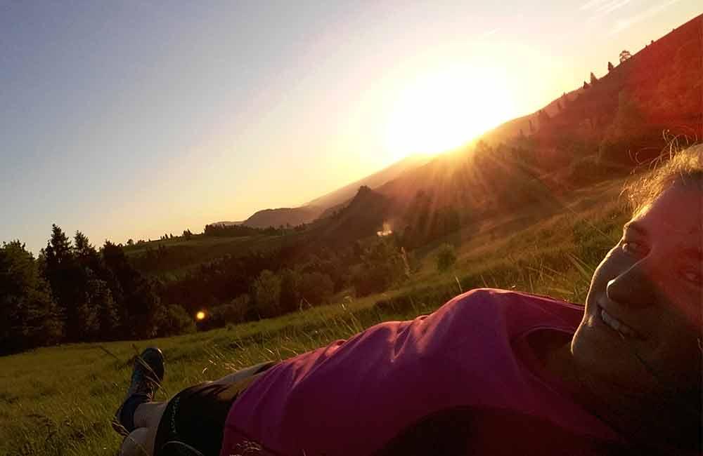 Trening biegacza w Pieninach