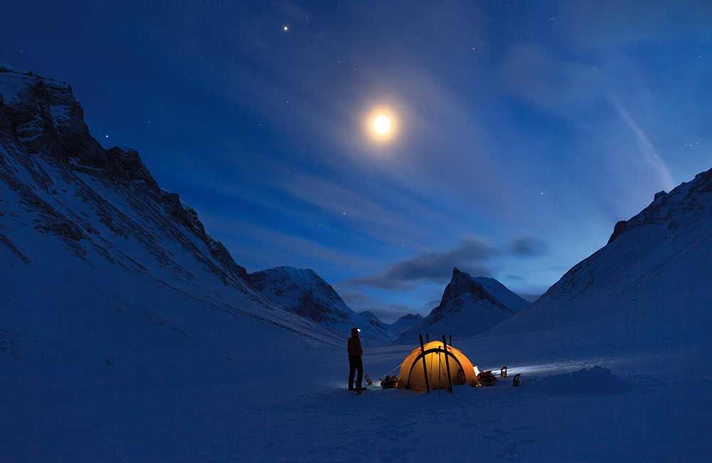 nocleg pod namiotem w górach