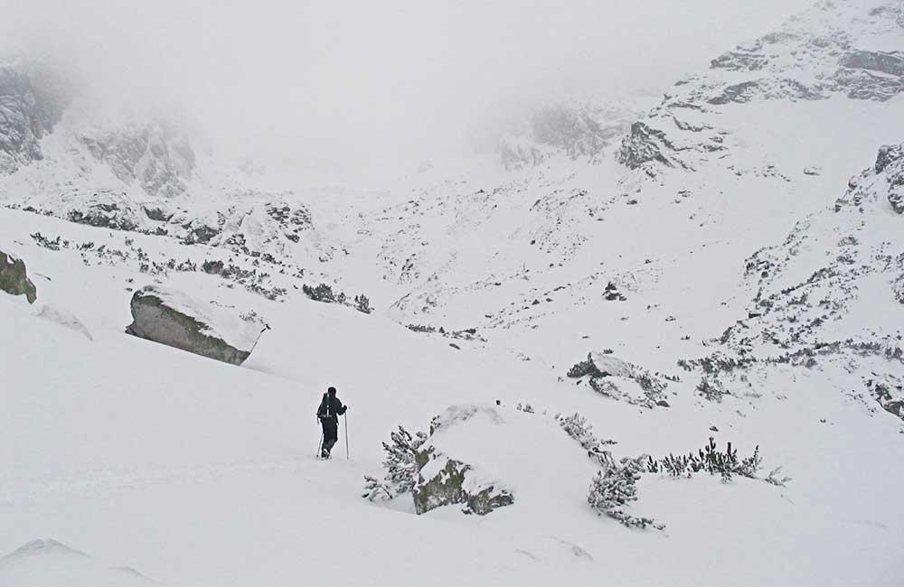 Zima nad Czarnym Stawem Gąsienicowym
