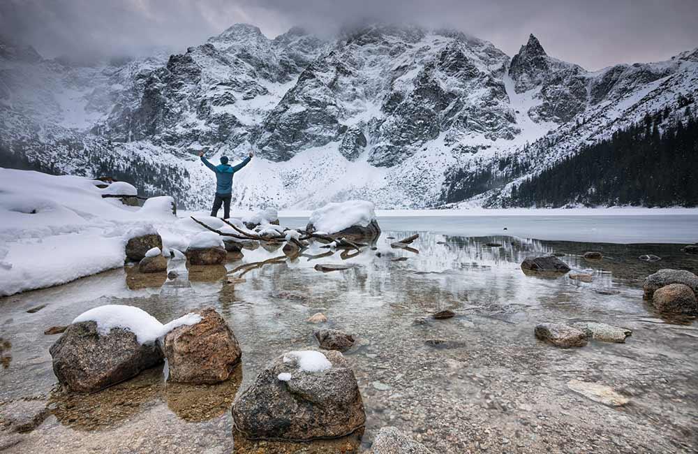 Zimowy krajobraż Tatr