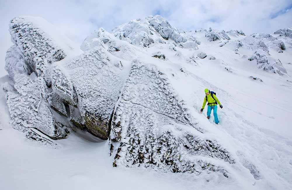 Tatry zimą - zmrożony szlak