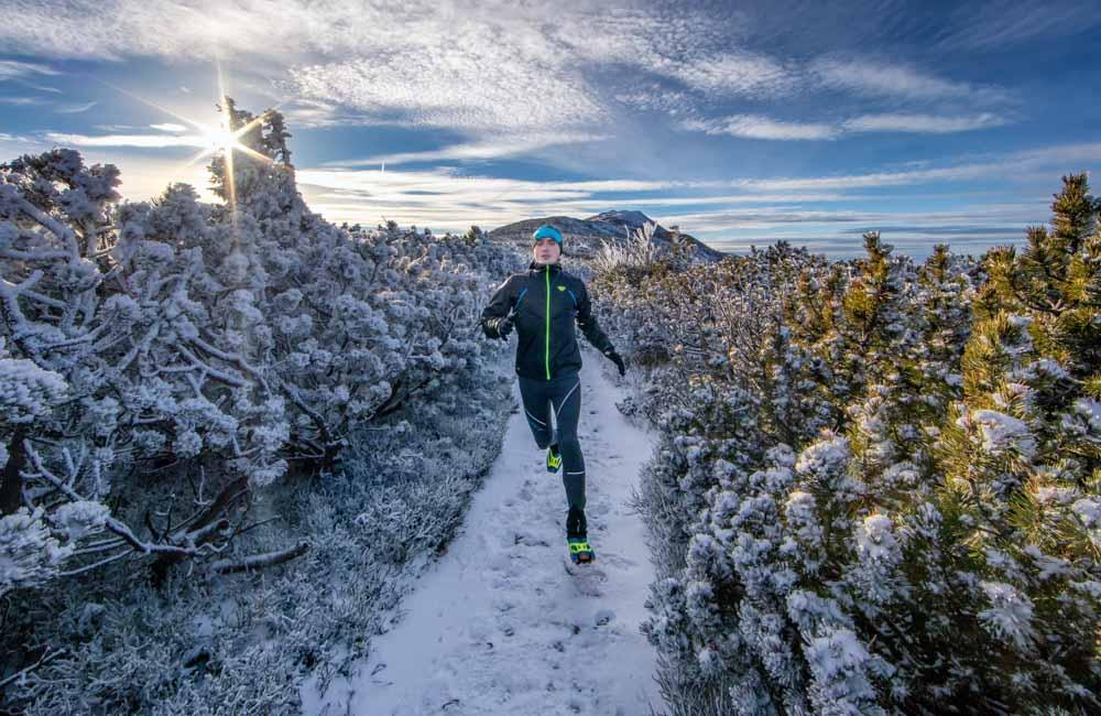 Bieganie zimą w górach
