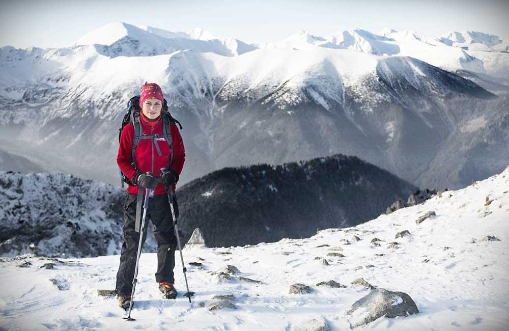 Widok z najdalej wysuniętego na zachód szczytu Czerwonych Wierchów