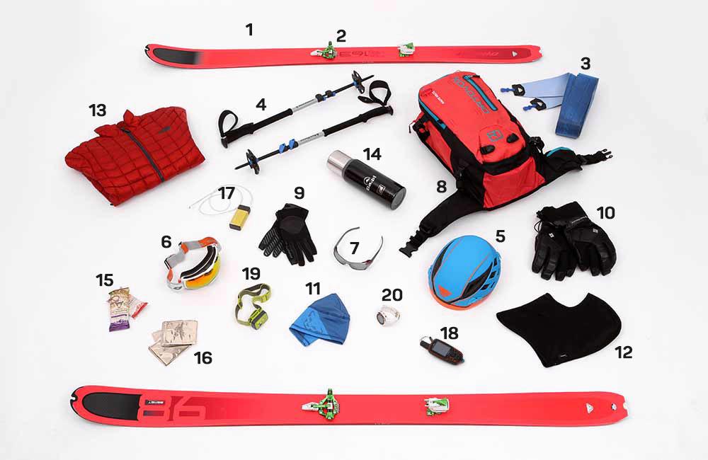 kompletny zestaw sprzętu skiturowego