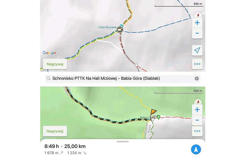 Mapy elektroniczne w góry