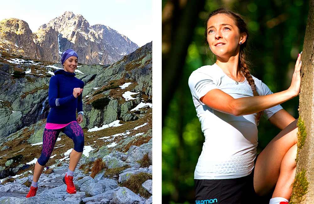 Kobiety uprawiające biegi górskie