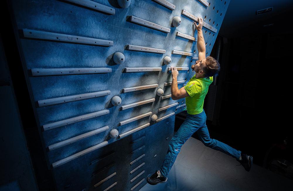 ćwiczenia wspinaczkowe na kampusie