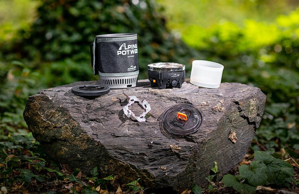 Kovea Alpine Pot Wide - elementy zintegrowanego systemu do gotowania