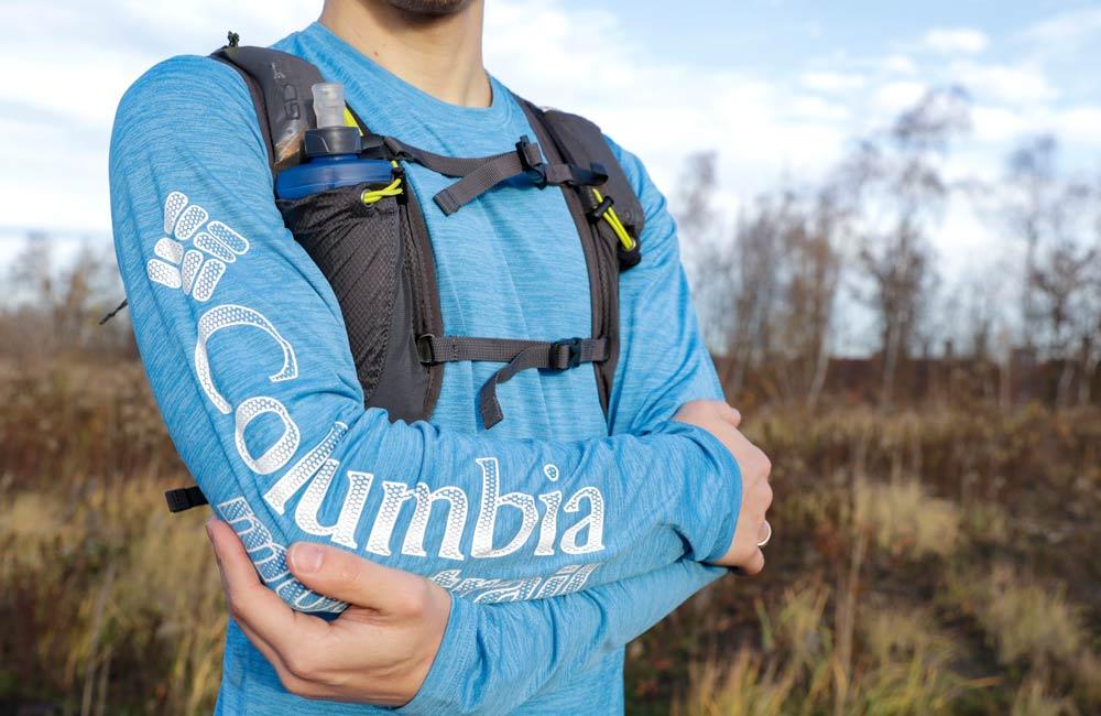 Dopasowanie koszulki Columbia Montrail Trinity Trail II L/S