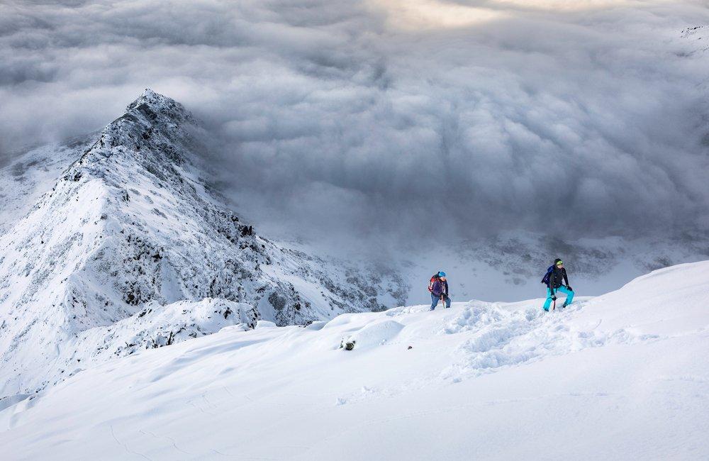Górska wspinaczka zimą