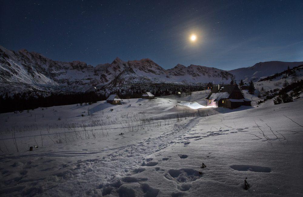 góry w zimie