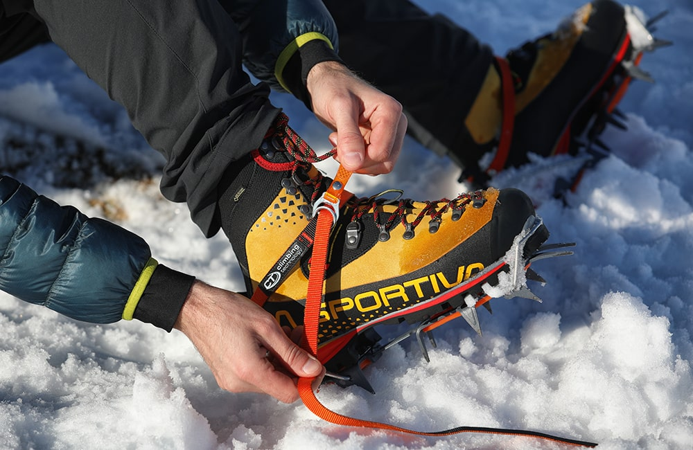 Raki turystyczne Climbing Technology automatyczne na butach La Sportiva