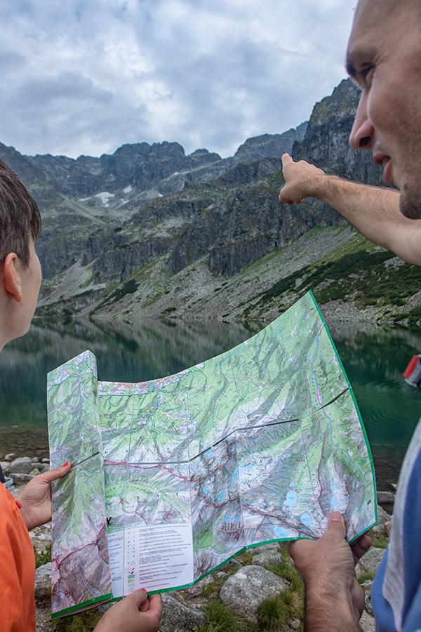 mapa na wycieczkę w Tatry