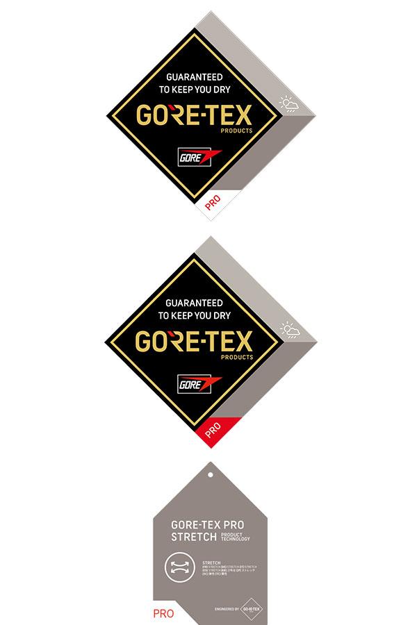 Oznaczenia nowego GORE-TEX PRO na metkach