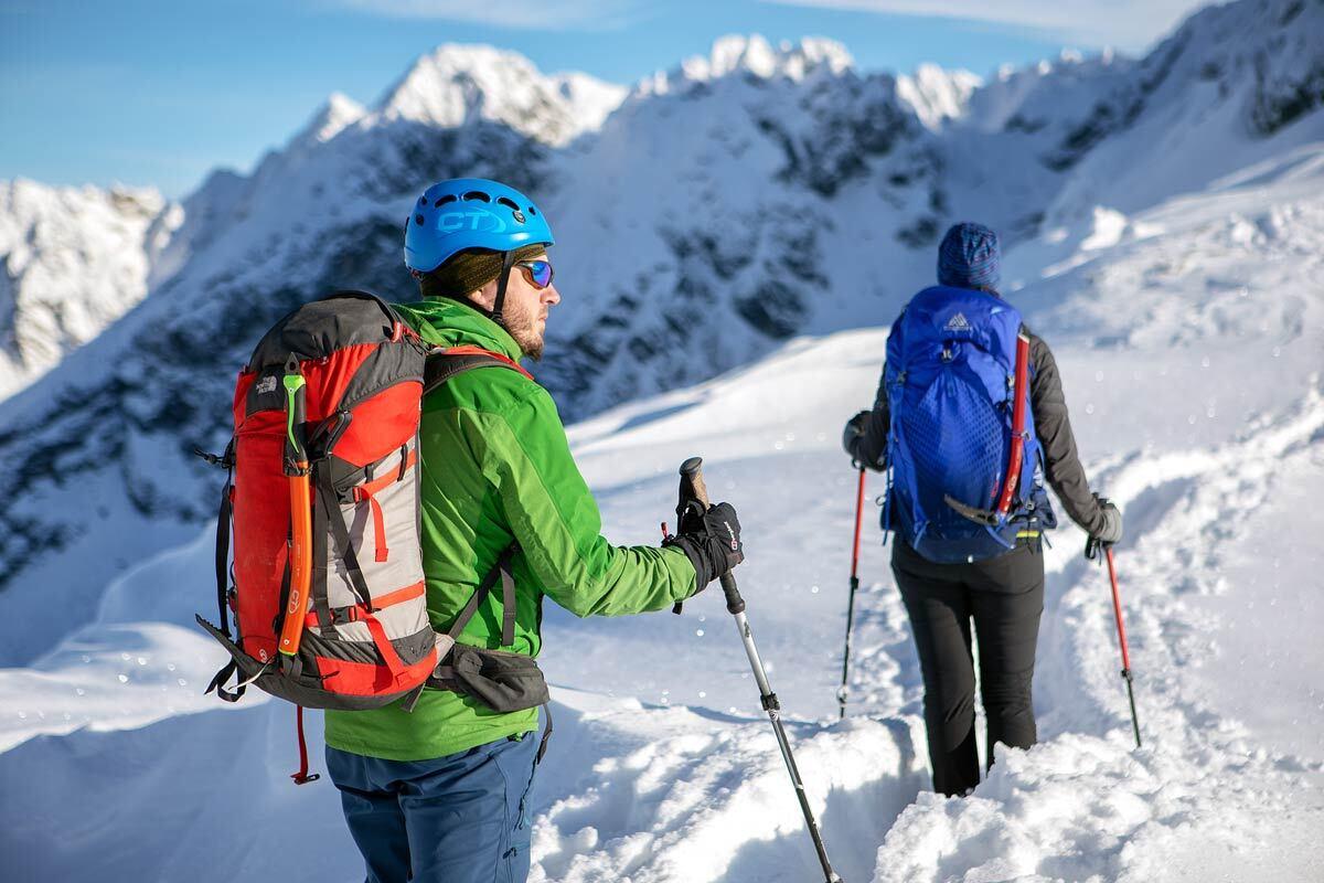 skituring - trening z kijami
