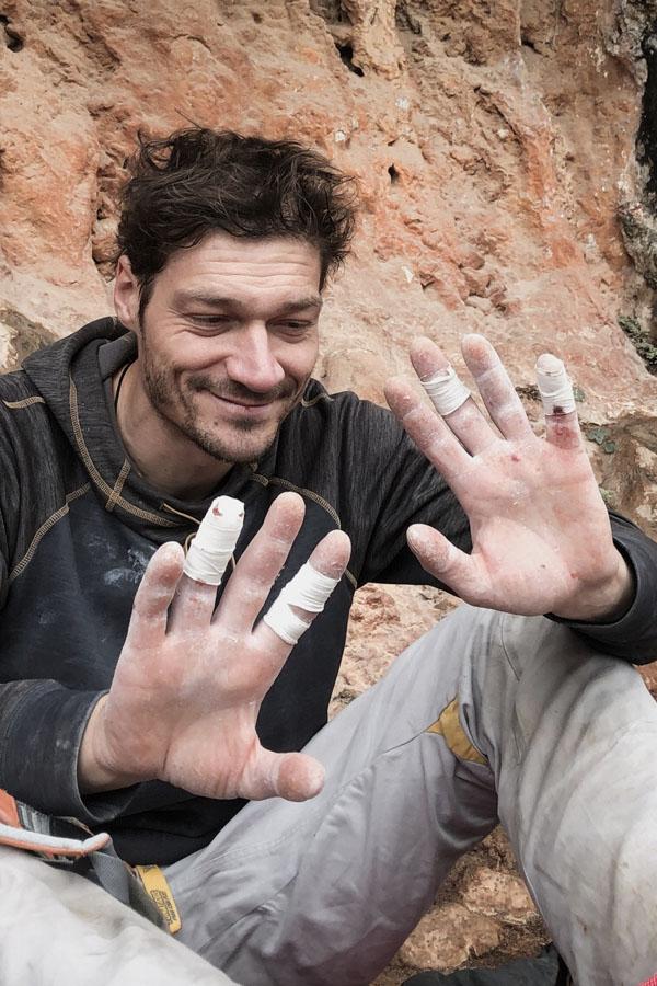 pielęgnacja dłoni wspinacza