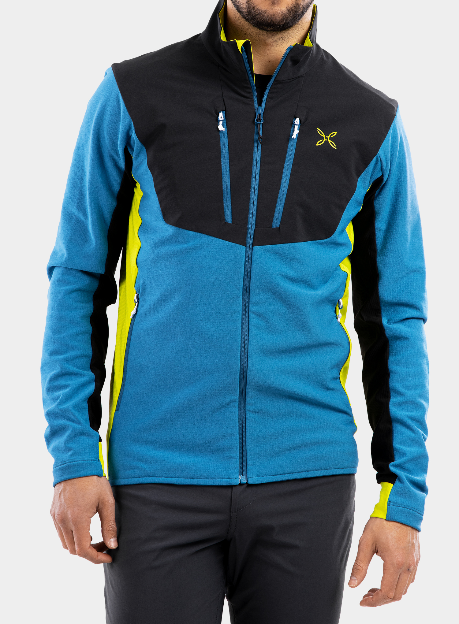 Bluza Montura Stretch Pro 2.0 Jacket - teal blue/lime green - zdjęcie nr. 1