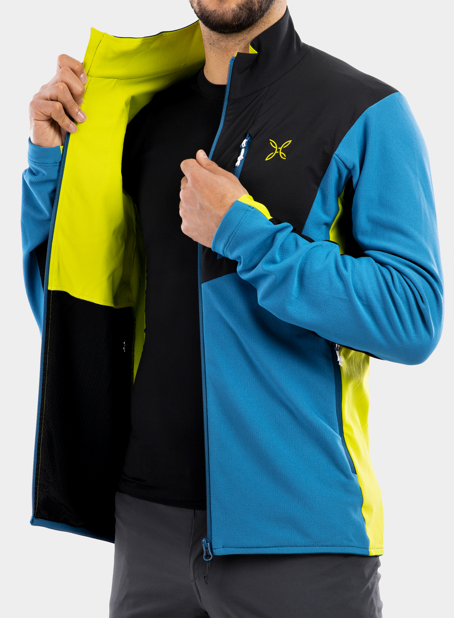 Bluza Montura Stretch Pro 2.0 Jacket - teal blue/lime green - zdjęcie nr. 12
