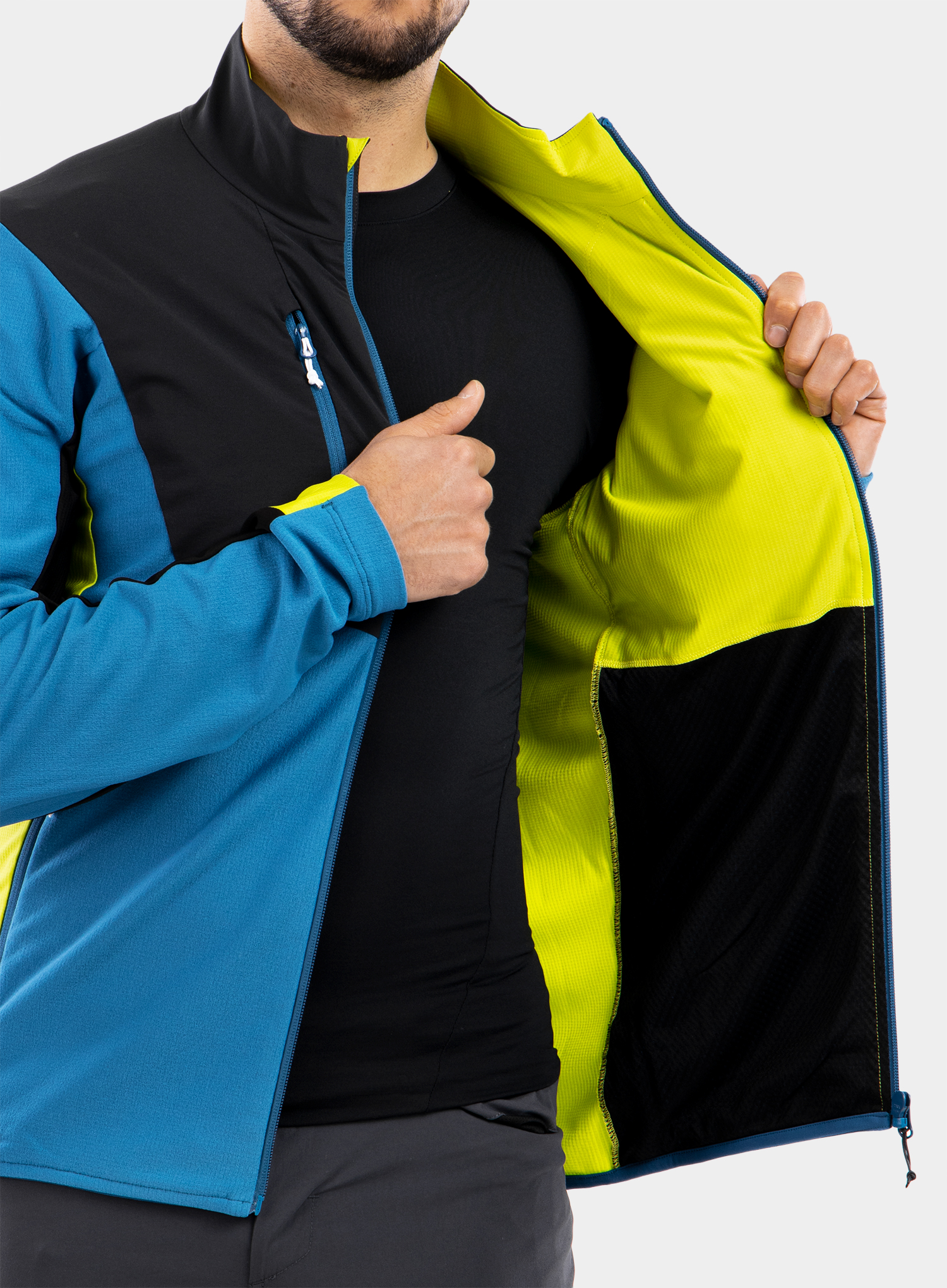 Bluza Montura Stretch Pro 2.0 Jacket - teal blue/lime green - zdjęcie nr. 6