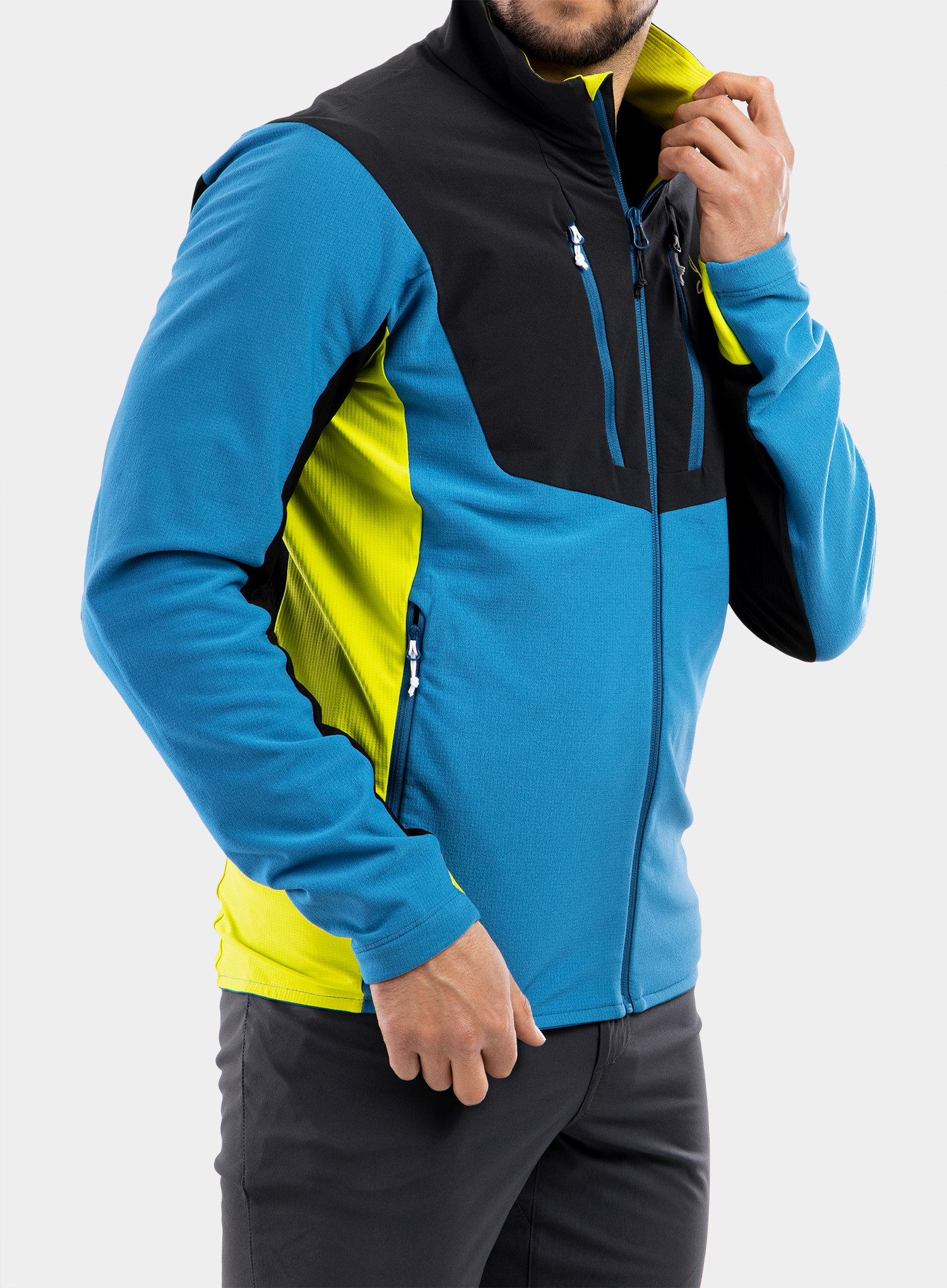 Bluza Montura Stretch Pro 2.0 Jacket - teal blue/lime green - zdjęcie nr. 10