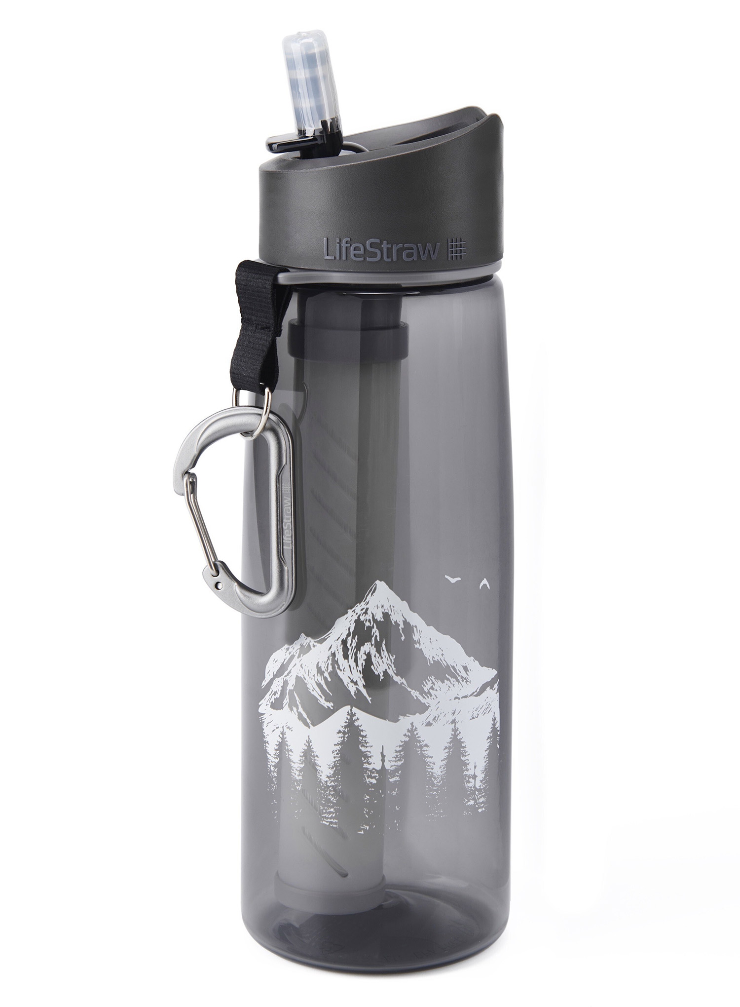 Butelka z filtrem Lifestraw Go 2-stage - mountain grey - zdjęcie nr. 1