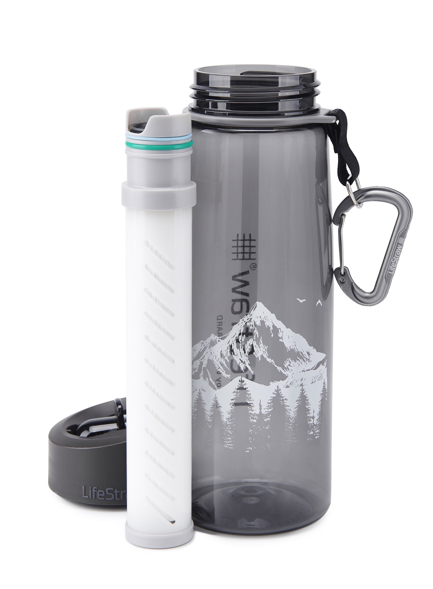 Butelka z filtrem Lifestraw Go 2-stage - mountain grey - zdjęcie nr. 2