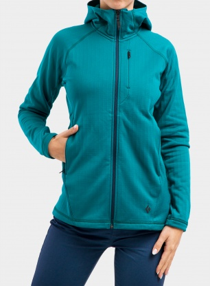 Bluza damska Black Diamond Factor Fleece Hoody - sea pine