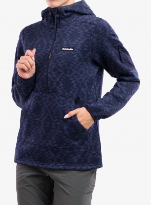 Bluza damska Columbia Sweater Weather Hooded Pullover - noctur/nocturn