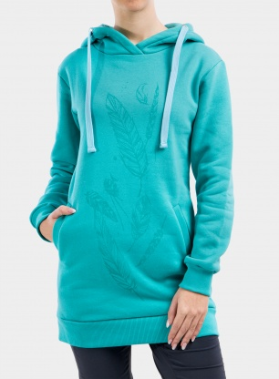 Bluza damska Majesty Beauty tall hoodie - blue