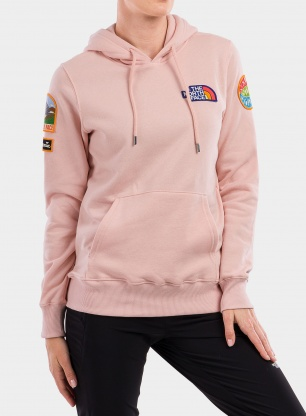 Bluza damska The North Face Novelty Patch Pullover Hoodie - pink