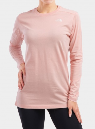 Bluza damska The North Face Simple Dome Tee L/S - sand pink