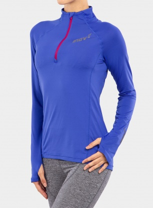 Bluza do biegania damska Inov-8 Train Elite Mid Half-Zip - blue