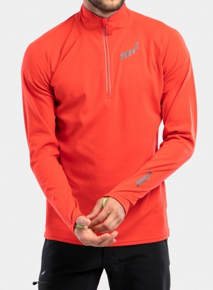 Bluza do biegania Inov-8 Technical Mid Half-Zip - red
