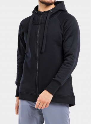 Bluza Majesty Super zip hoodie - black