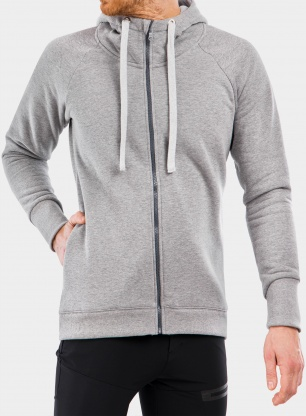Bluza Majesty Super zip hoodie - grey