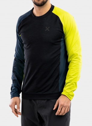Bluza Montura Bouldering Color Maglia - green lime/powder blue