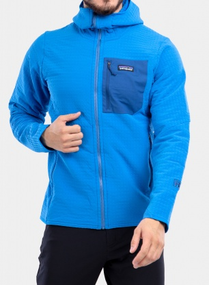 Bluza Patagonia R2 TechFace Hoody - andes blue