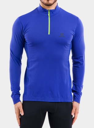 Bluza Salomon Explore Seamless Half Zip - clematis blue