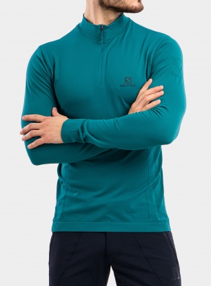 Bluza Salomon Explore Seamless Half Zip - pacific