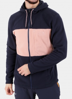 Bluza The North Face Blocked Tka 100 F/Z Hoodie - navy/pink
