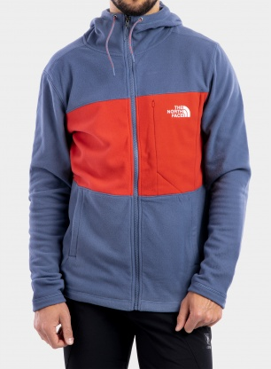 Bluza The North Face Blocked Tka 100 F/Z Hoodie - indigo/red