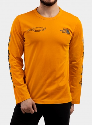 Bluza The North Face Himalayan Bottle Source Tee L/S - orange