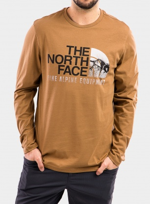 Bluza The North Face Image Ideals Tee L/S - utility brown