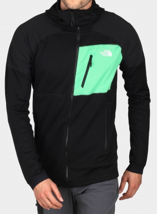 Bluza na zamek The North Face Impendor Grid Hoodie - black/green