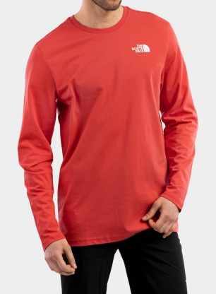 Bluza The North Face L/S Easy Tee - rococco red