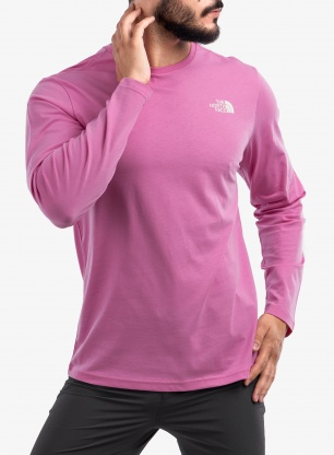 Bluza The North Face L/S Easy Tee - sunset mauve