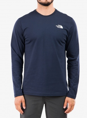 Bluza The North Face L/S Easy Tee - urban navy/white