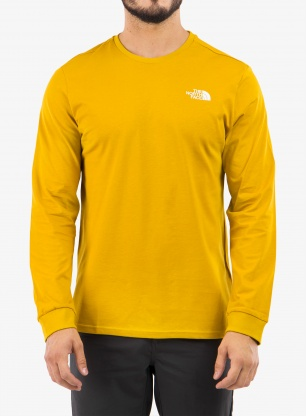 Bluza The North Face Simple Dome Tee L/S - yellow